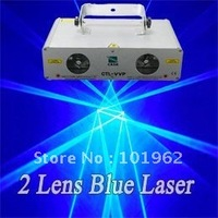 2 Lens 600mW Blue Laser Show DJ Disco Party PUB Stage Lighting