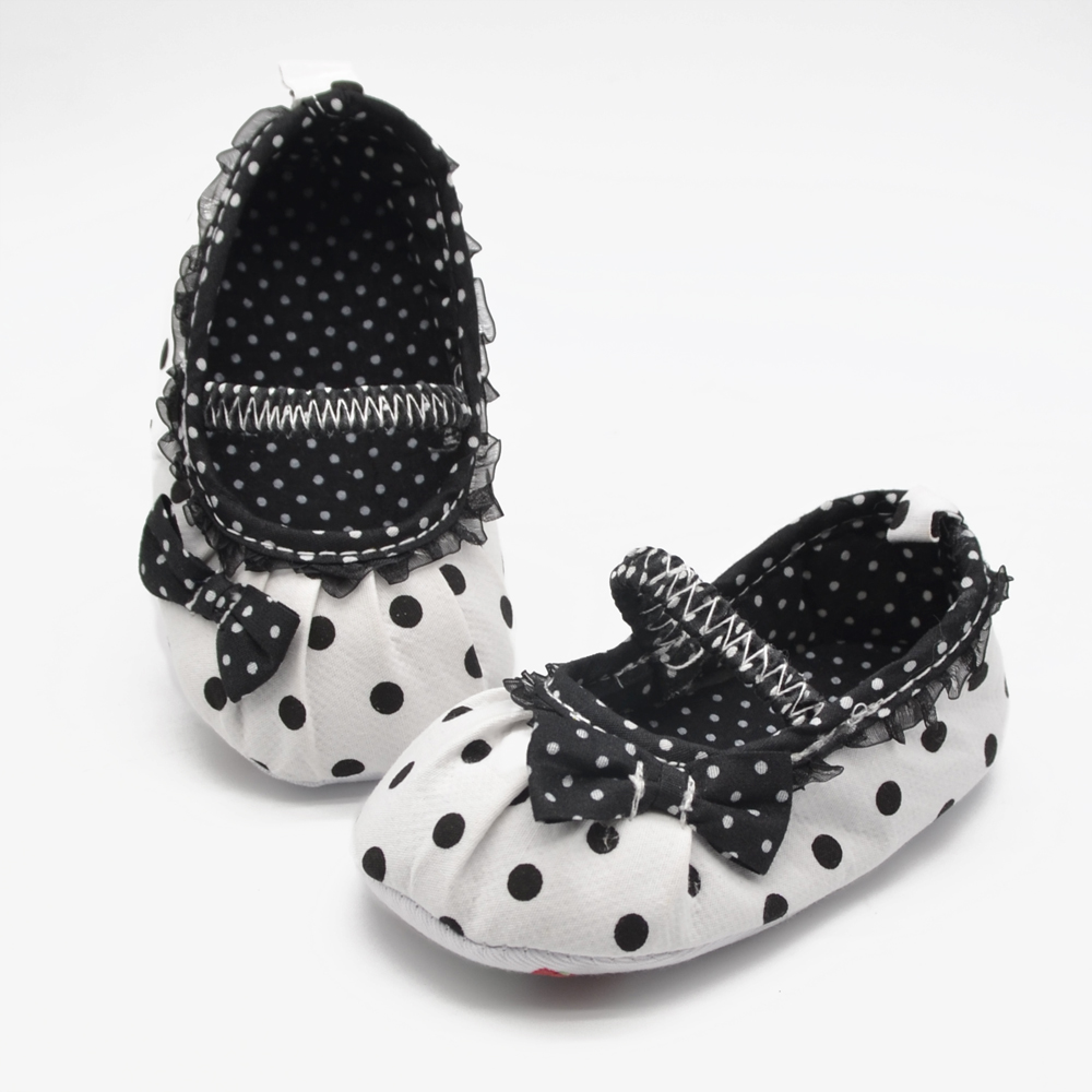 Square Mouth Black Pleated Lace Princess Babies Shoes Soft Sole Non-slip Baby Pure Handmade Multi-element First Walkers