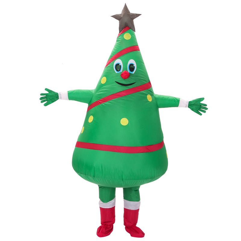 Christmas Tree Inflatable.Us 39 96 20 Off H Zy Adult Christmas Cosplay Costumes Xmas Tree Inflatable Costume New Design Green Christmas Tree Mascot Costumes In Holidays