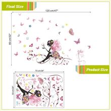 Beautiful Butterfly Flower Art Wall Sticker For Children's Room
