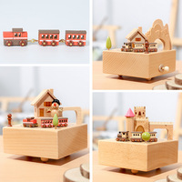 Carousel music box wooden castle music box gift boxs Game of Thrones retro home decoration accessories gift for the new year