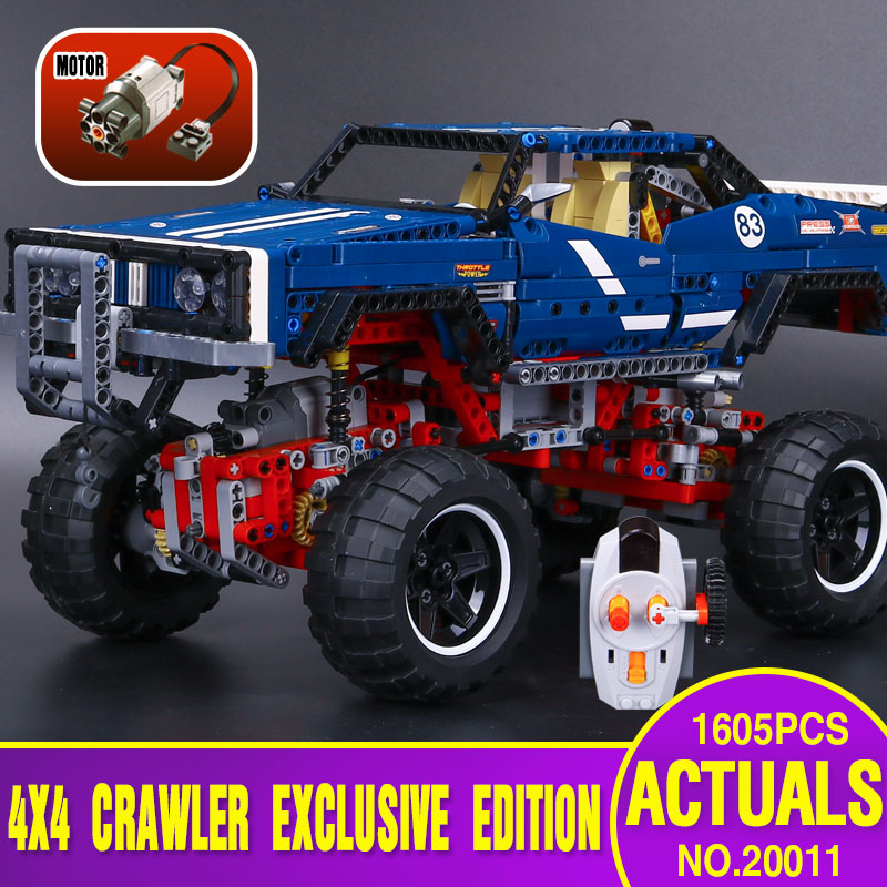 NEW lepin 20011  1605pcs technic remote control electric off-road vehicles building block toys compatible with 41999