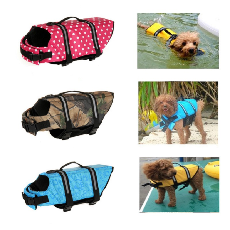 Yellow Dog Saver Life Jacket Vest Reflective Pet Preserver Aquatic Safety XS-XXL