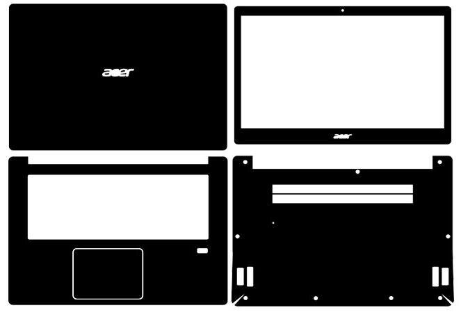 Laptop Carbon Fiber Vinyl Skin Sticker Cover For Acer Swift 3(SF314-52) 14