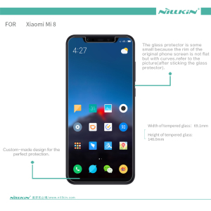 Image 2 - For Xiaomi Mi8 Tempered Glass Nillkin Amazing H+Pro 0.2MM Screen Protector For Xiaomi Mi 8 Glass