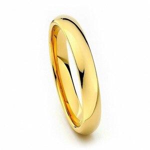 Image 3 - Anillos de boda de carburo de tungsteno para mujer, anillos de oro Vintage de 4mm, alianzas de boda, anillos de compromiso antiguos