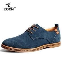 ZOCN Zapatos Oxford de Los Hombres Ocasionales Planos Del Cuero Genuino Transpirable Comfort Oxford Hombres Zapatos Chaussure Homme Grandes Tamaño 38-48