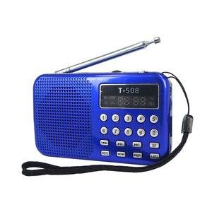 Image 2 - Kebidueimini 듀얼 밴드 충전식 디지털 LED 디스플레이 패널 스테레오 FM 라디오 스피커 USB TF mirco SD 카드 MP3 음악 플레이어