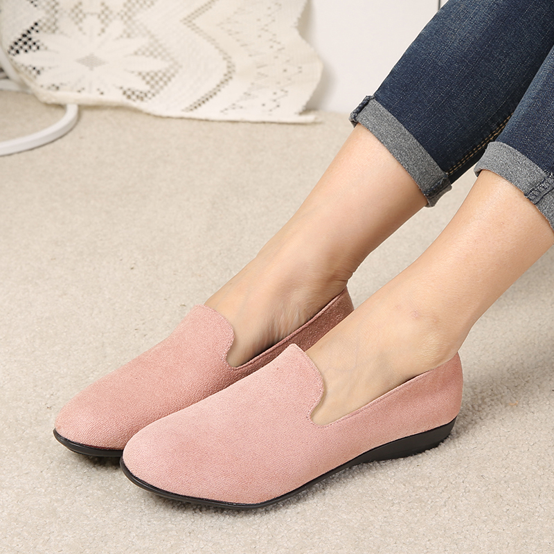 COOTELILI Female Loafers Flats-Shoes Spring-Style Slip-On Plus-Size Casual Women 42 43