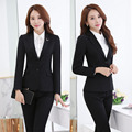 Formal Uniform Design Professional Pantsuits With Jackets And Pants Ladies Office Work Wear Business Women Female Trousers Sets