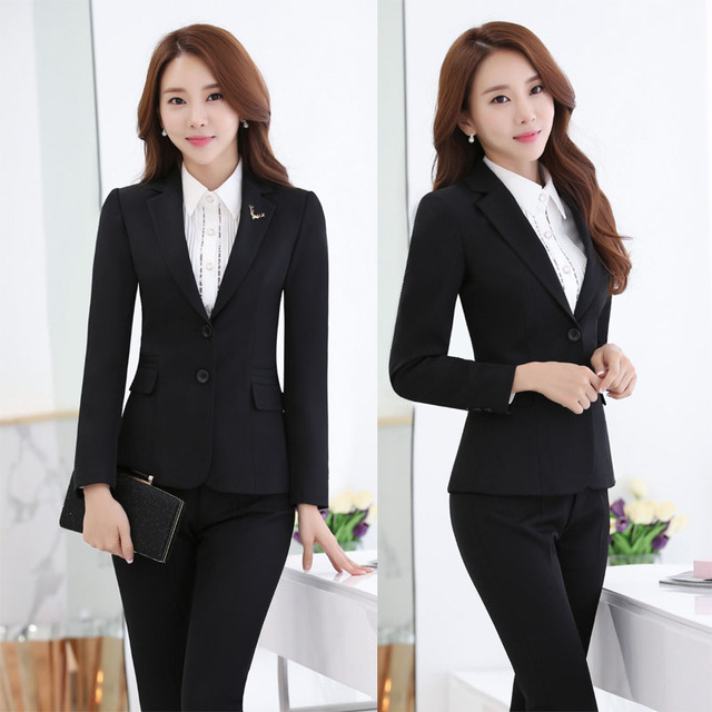 Terninhos Uniforme Formal de Projeto Profissional Com Jaquetas E Calças Das Senhoras Trabalho de Escritório Desgaste do Negócio Das Mulheres do Sexo Feminino Calças Conjuntos