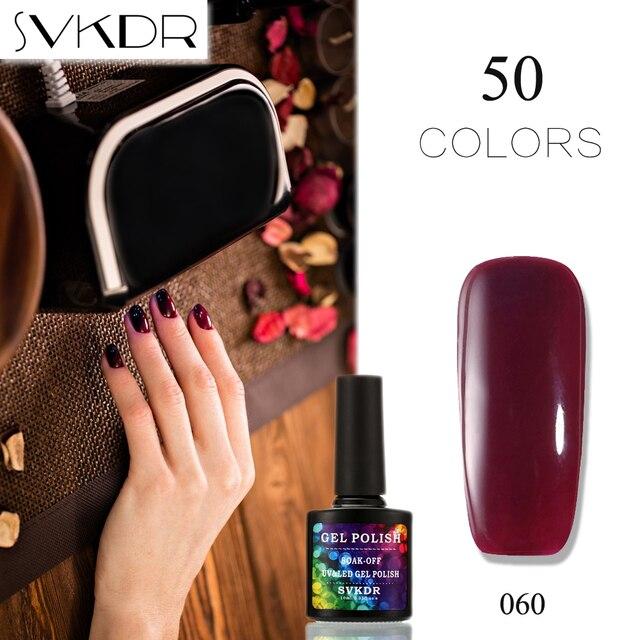 SVKDR 50 Color Coat Nail Polish Long Lasting Nail Gel Soak Off UV ...