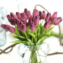 Tulipány z Aliexpress – 10 ks umělá krásná dekorace bytu