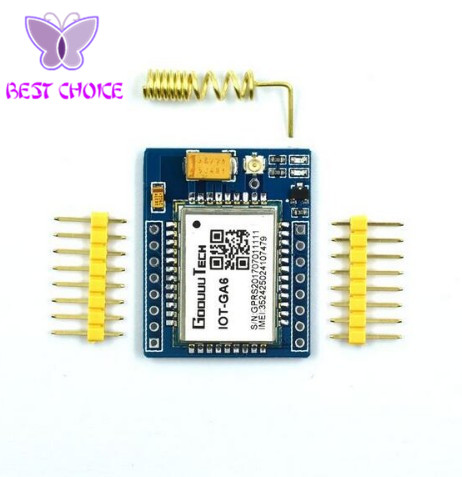 US $4 3 |mini A6 GPRS GSM Kit Wireless Extension Module Board Antenna  Tested Worldwide Store for SIM800L-in Integrated Circuits from Electronic