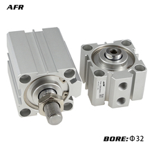 AFR BRAND SDA16 Air actuator compact double acting pneumatic cylinder Female/male thread bore 16mm stroke SDA16X5/10/20/25/30 1 pcs 16mm bore 25mm stroke stainless steel pneumatic air cylinder sda16 25