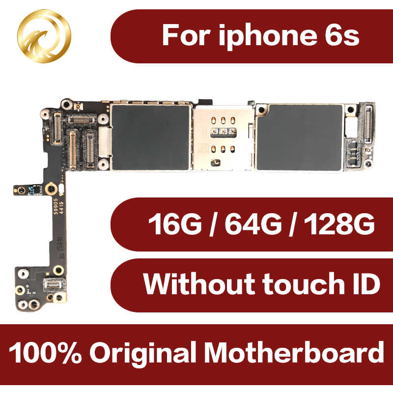 For <font><b>iphone</b></font> <font><b>6S</b></font> Mobile phone motherboard Original For <font><b>iphone</b></font> <font><b>6S</b></font> motherboard <font><b>16GB</b></font> 64GB 128GB <font><b>unlock</b></font> Mainboard without Touch ID image