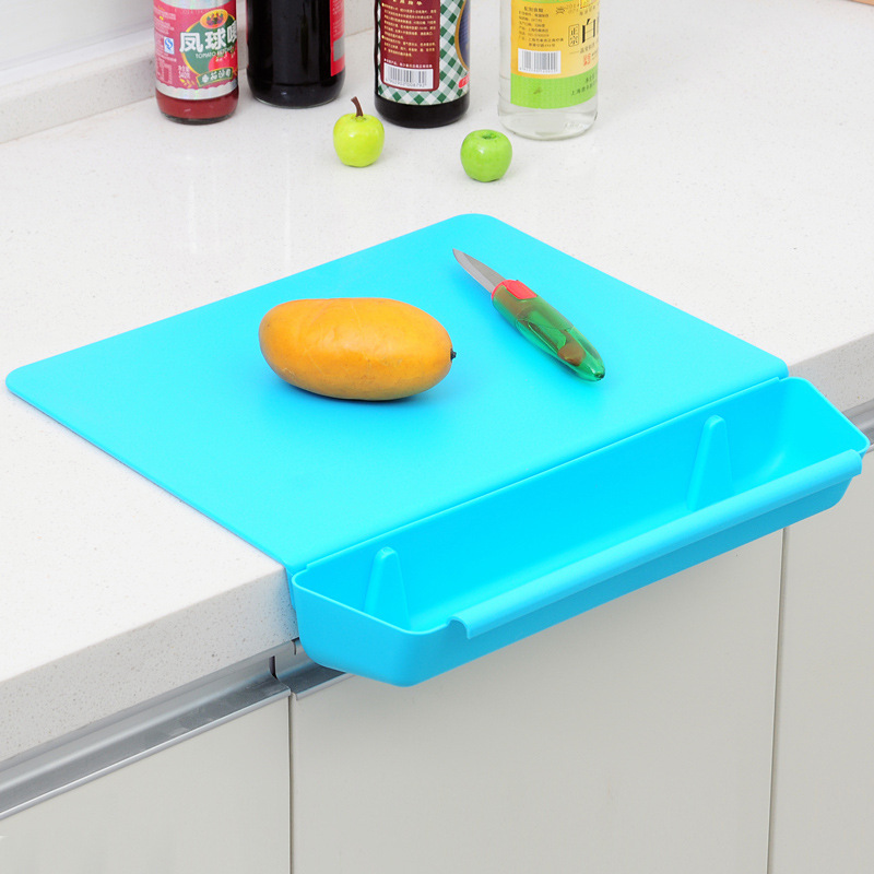 With Slot Cutting Plastic Chopping Board Frosted Kitchen Cutting Board Vegetable Meat Tools Kitchen Accessories Chopping Board