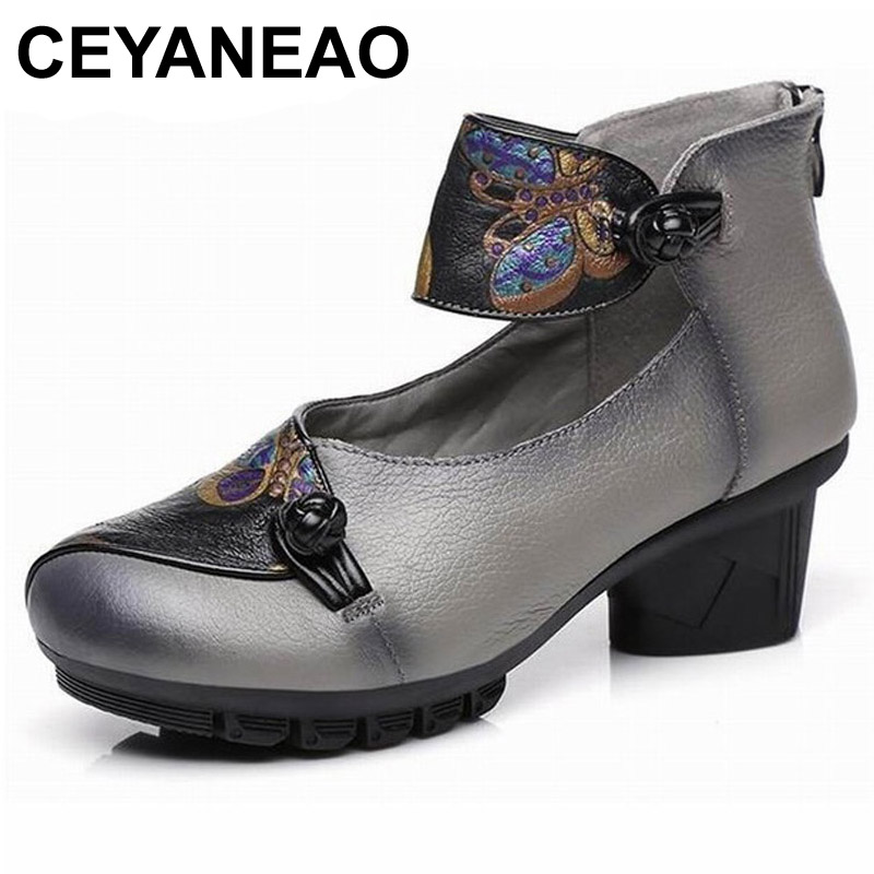 CEYANEAOCowhide Handmade Women Fashion Shoes High Heel Shoes 2018 new Genuine Leather Shoes Woman Fashion Pumps High HeelsE1526CEYANEAOCowhide Handmade Women Fashion Shoes High Heel Shoes 2018 new Genuine Leather Shoes Woman Fashion Pumps High HeelsE1526
