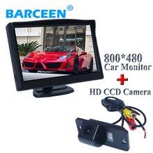 """Простые черные внешний вид автомобиля Резервное копирование камера 170 широкий угол обзора with5 """"Car экран монитора для BMW 5 серии 3 серии"""