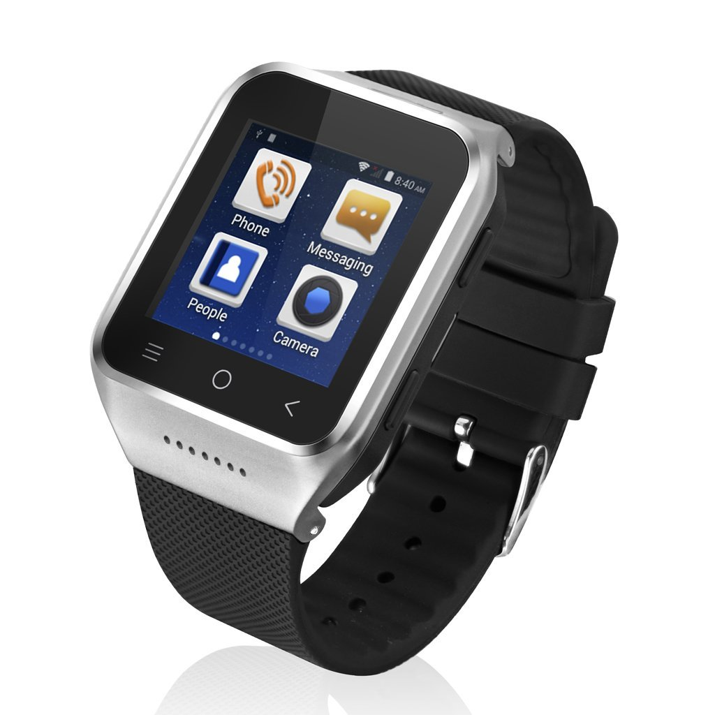 ZGPAX S8 1.54 Inch Android 4.4 MTK6572 Dual Core Unlocked 3G SIM Smart Phone Watch With 2.0MP Camera Touchscreen WCDMA GSM Sma
