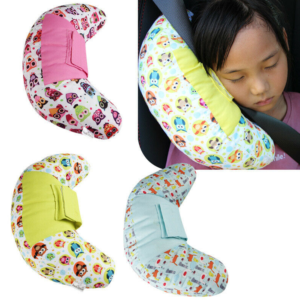 Children Car Soft Headrest Seatbelt Cushion Neck Pillow Vehicle Seatbelt Strap Harness Head Pad Cover