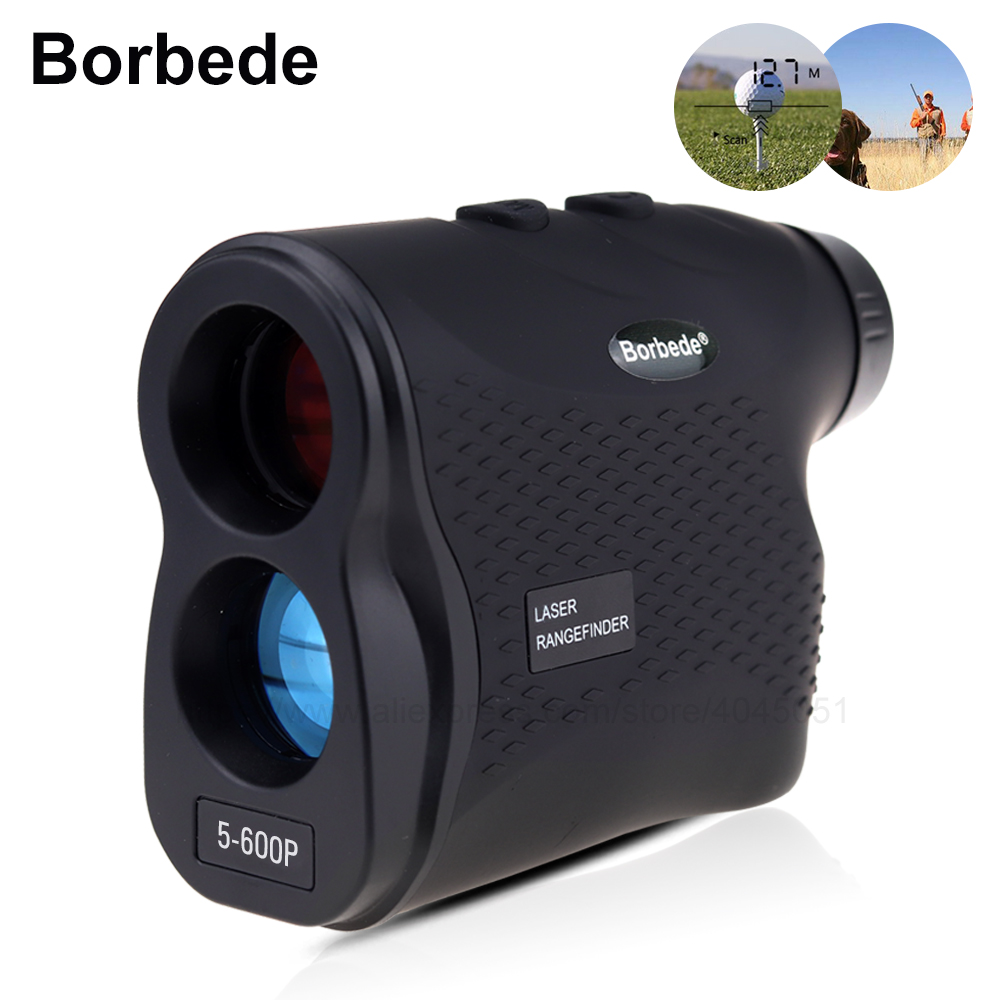 Borbede лазерный дальномер для гольфа Охота телескоп 600 м/900 м/1200 м/1500 м лазерный дальномер с Скорость сканирования измерение туман