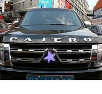 Auto Car 3D Letter Hood Emblem Logo Badge Car Stickers Styling Car Accessories for Mitsubishi Pajero Sport