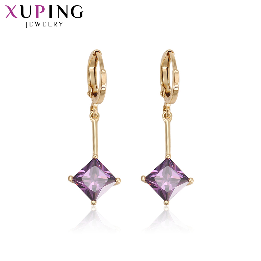 11.11 Deals Xuping Fashion Elegant Earrings Charm Style Gold Color Plated Eardrop With Synthetic CZ for Women Gift S76,3-94685