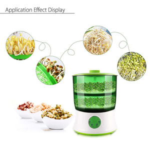 Image 5 - Digital Home DIY Bean Sprouts Maker 2 Layer  Automatic Electric Germinator Seed Vegetable Seedling Growth Bucket Biolomix
