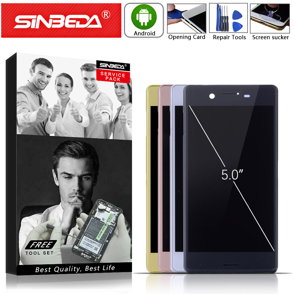 5.0 pouces pas de pixels morts noir blanc or rose pour SONY Xperia X F5121 F5122 écran tactile LCD avec cadre de remplacement LCD #