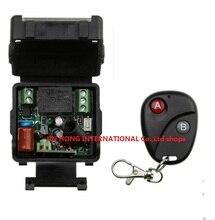 AC 220 v 1 ch RF inalámbrico interruptor de control remoto 1 receptor fotos 1 pics transmisor Con 2 botones A para A y B para OFF