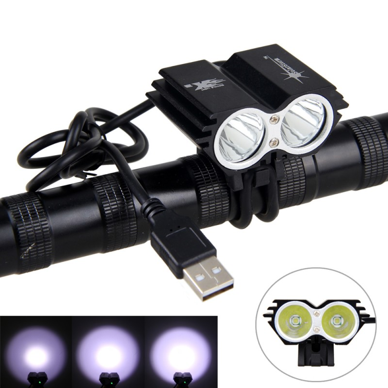 8000 lm LED Cycling Bike Bicycle Headlamp Front Flashlight Torch Head Light MN