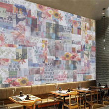 Beibehang Bergaya Eropa Retro Industri Angin Koran Tua Cantik Custom Large-Scale Fresco Wallpaper Non Woven(China)