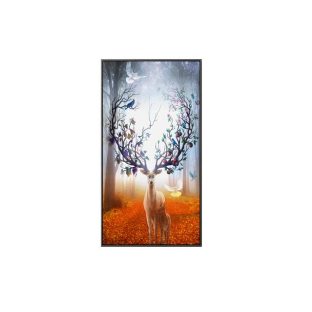 Deer Autumn Decor Canvas Poster
