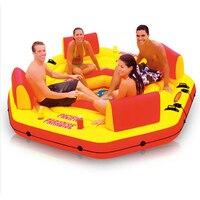 Intex Pacific Paradise Lounge морской INTEX 58286 шезлонг Вода плавающей ряд плавающая кровать воды