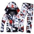 Homens de frete Grátis E W Terno de Esqui de Roupas de Super Quente Jaqueta + Calça Terno do Snowboard do Esqui Desgaste Do Inverno À Prova de Vento À Prova D' Água
