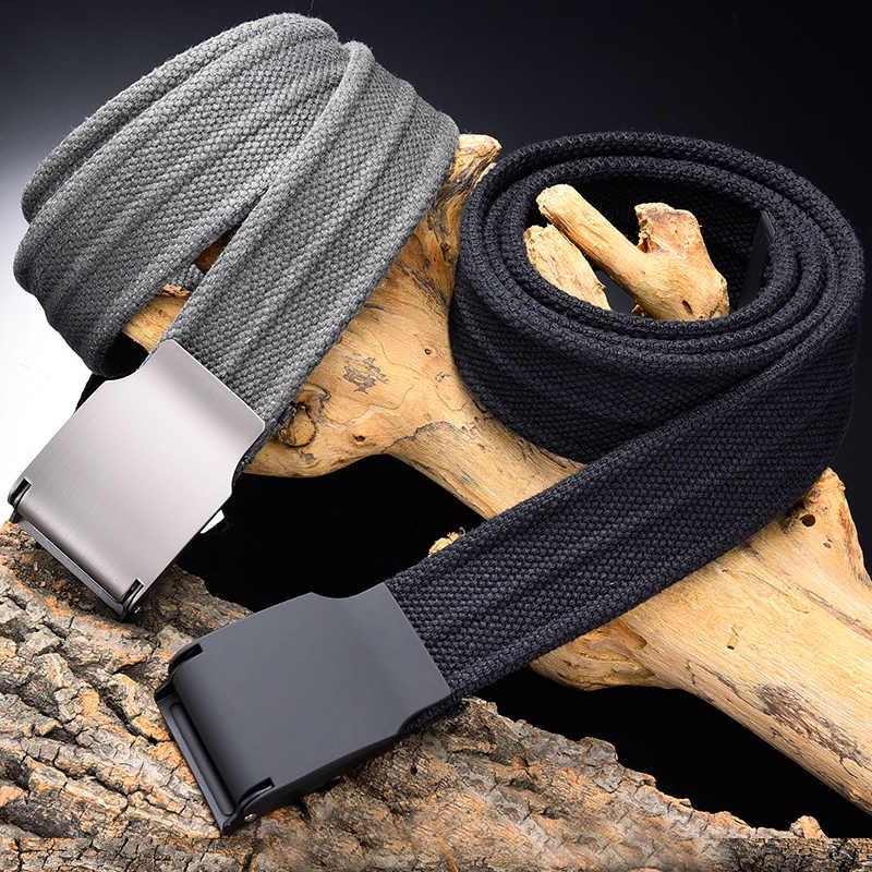 2018 Tela Cintura Casuale di Colore Solido Tessitura Cinturino Equipaggiamento Militare Dell'esercito Cintura Esterna Pratico Ceintures 3.8 CM