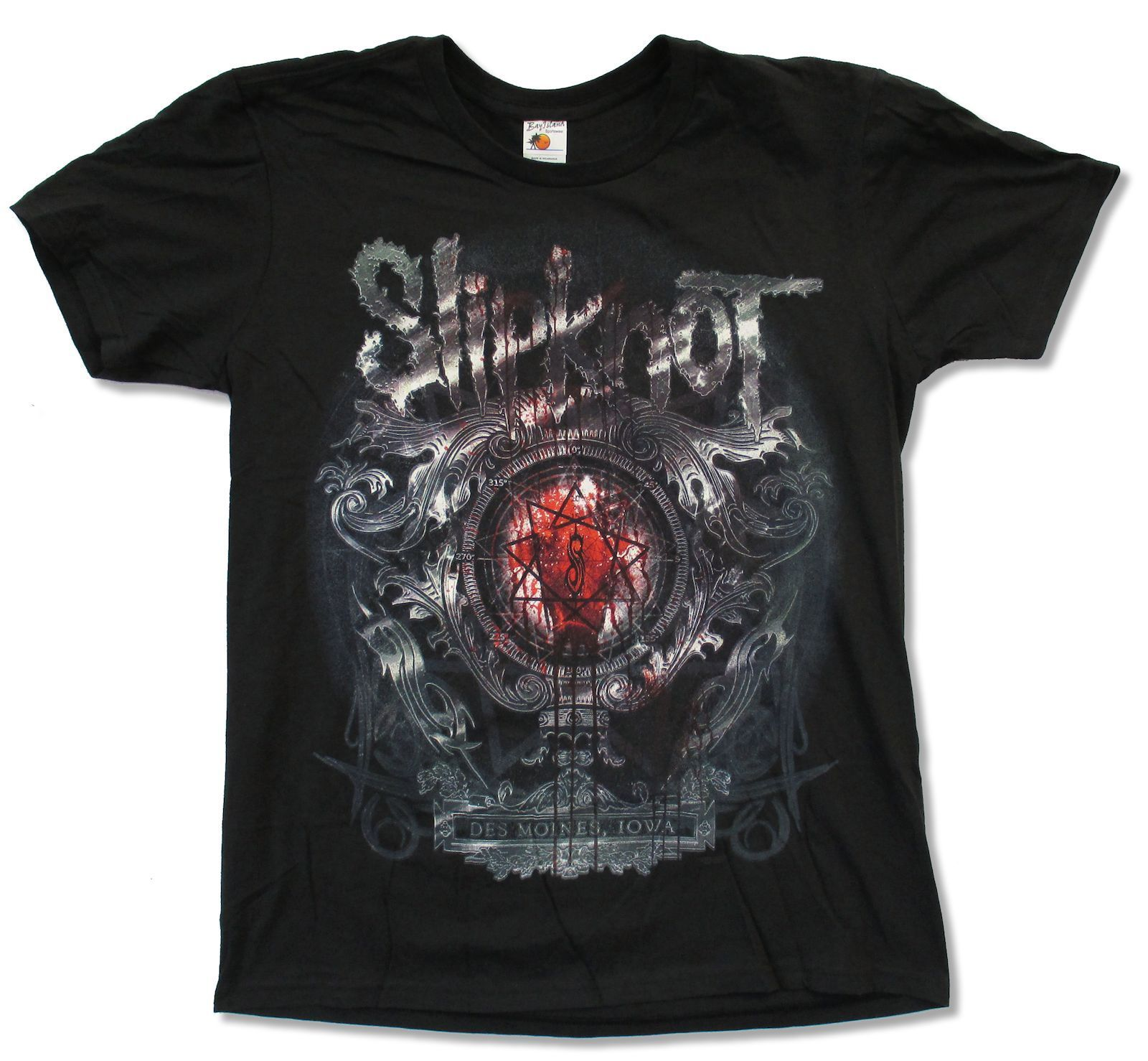 Slipknot Des Moines Crest Black T Shirt New Official Adult