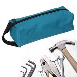1 قطعة حقيبة أداة اليد ل مسامير صغيرة المسامير مثقاب الخشب أجزاء معدنية حقيبة أدوات قماش مقاوم للماء أداة المنظم
