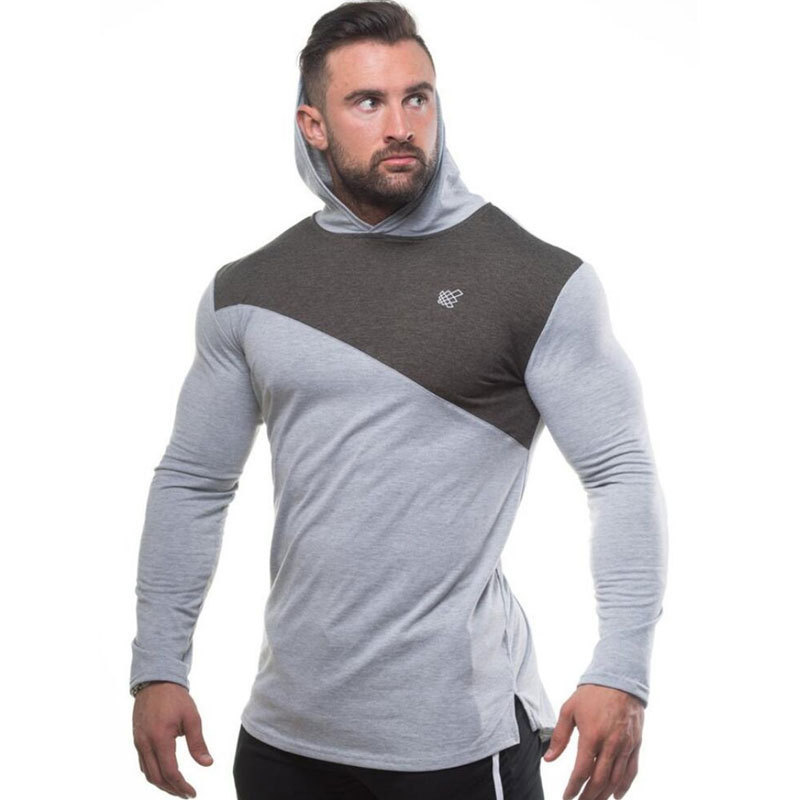 Mens Cotton Thin Hoodie Gyms Fitness Sweatshirt Man Autumn New Casual Fashion Hooded Jacket Male Jogger Workout Brand Clothing