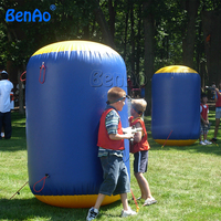 P092 BENAO Free Shipping cheap inflatable paintball bunker price,Inflatable round beam paintball bunker for sport games