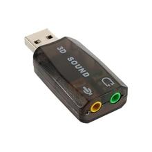 Новый USB Звуковая Карта Аудио USB 7.1 Внешняя Звуковая Карта USB Интерфейс Для Пк Микроданных