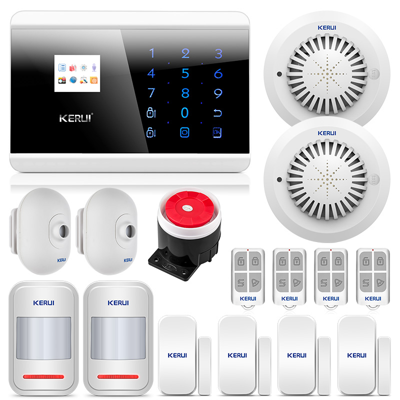Security & Protection Security Alarm Special Section Kerui 8218g Gsm Pstn Home Alarm Security System High Performance Cpu With Waterproof Pir Motion Sensor Detector Door Magnet