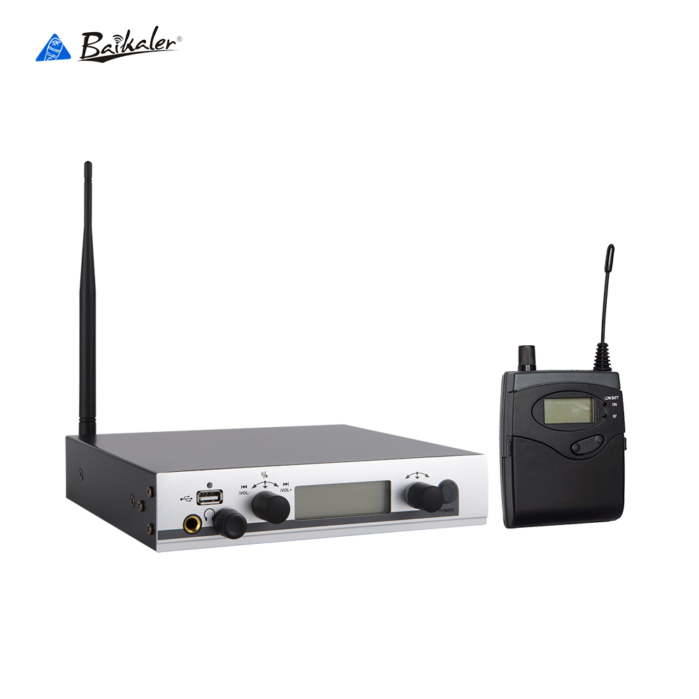 Wireless In Ear Monitor System UHF Professional Digital Cordless In Ear Monitor Stage In Ear Audio System Earphone Pro Stage