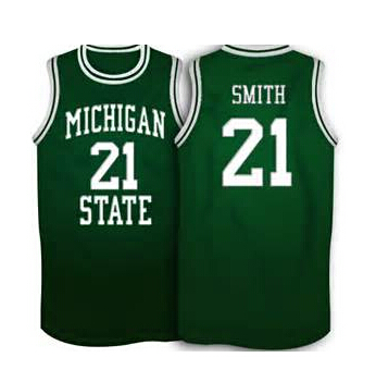 newest bd7de e2dba 21 steve smith michigan state spartans basketball jersey ...