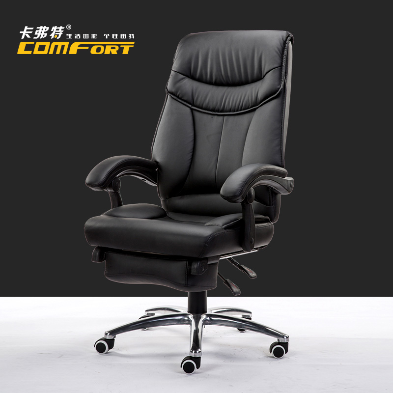 Office Chair PU Material Lifting Rotatable Boss Chair Computer Chair High Elasticity Sponge Cushion bureaustoel ergonomisch 240311 high quality pu leather computer chair stereo thicker cushion household office chair steel handrails