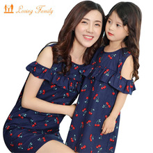hot deal buy family clothing mother daughter dress family matching outfits cotton dress mom and daughter dresses matching family clothes
