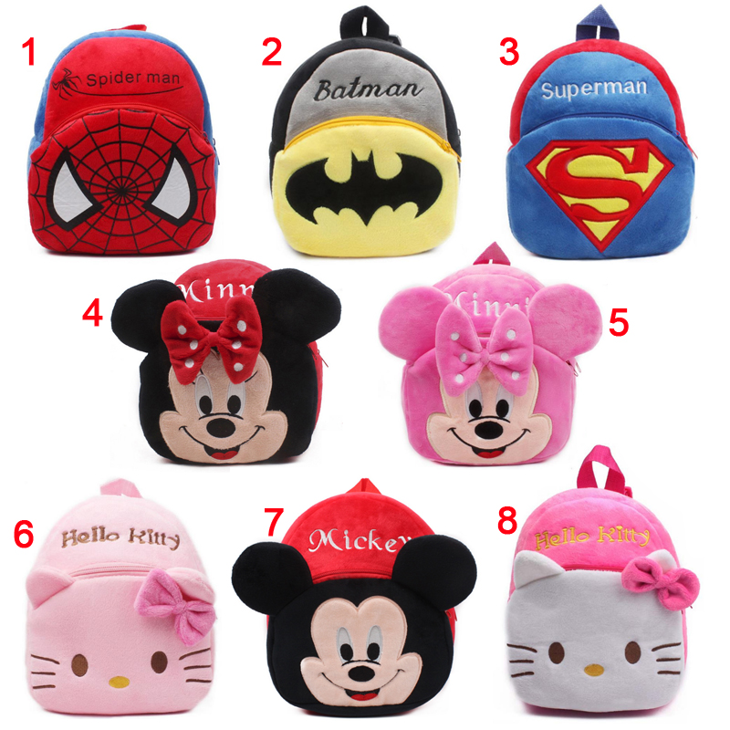 New cute cartoon kids plush backpack toy mini school bag Children's gifts kindergarten boy girl baby student bags lovely Mochila waterproof cartoon cute thermal lunch bags wome lnsulated cooler carry storage picnic bag pouch for student kids