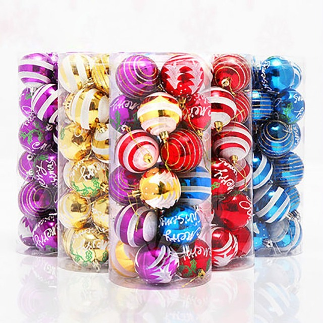 24Pcs 2.4 inch (60mm) Golden/Red/Purple/Blue/Colorful Painted ...