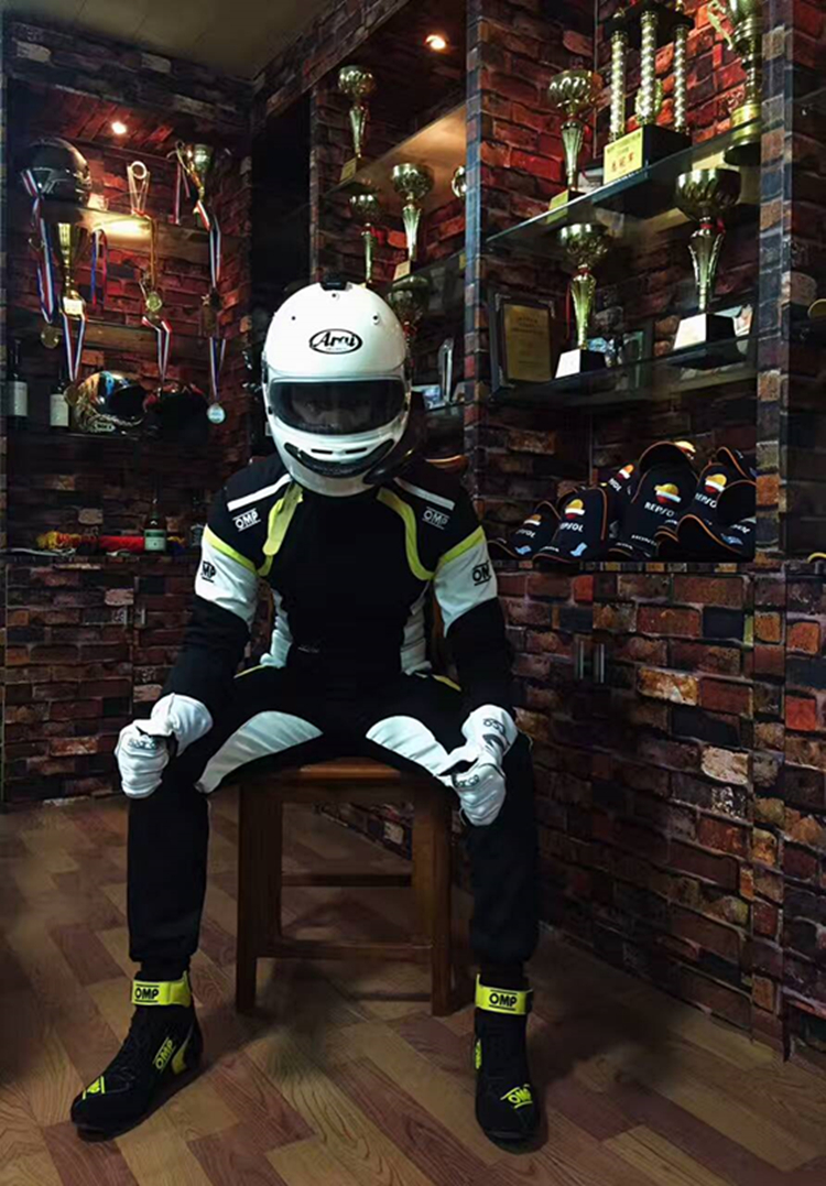 2018 Wholesale 2 layers fire retardant fabric Racing Suit FIA Homolaogation racing safety suit